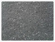 Fibre with glitter